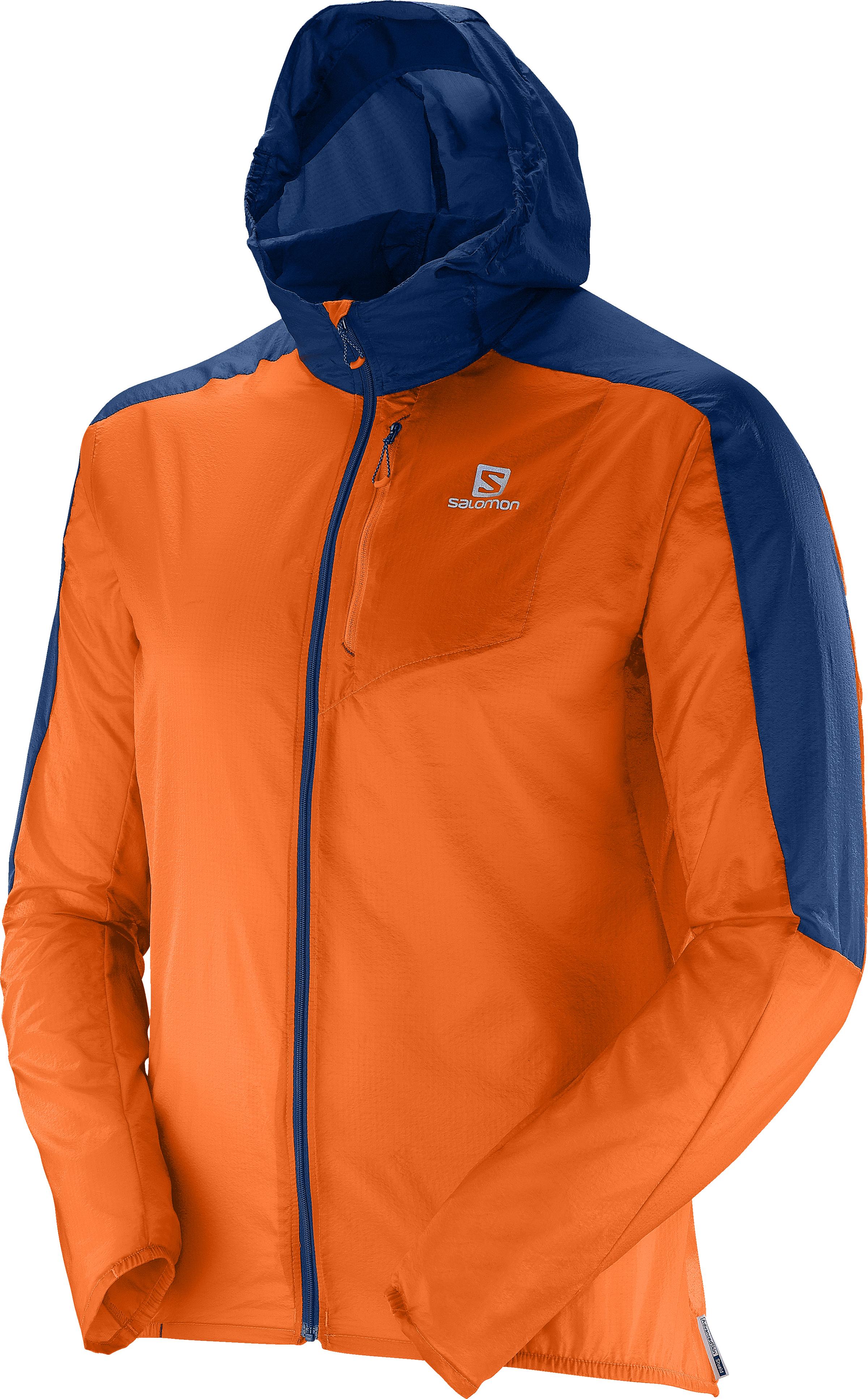 Salomon Fast Wing Hoodie 379498 oranžová L
